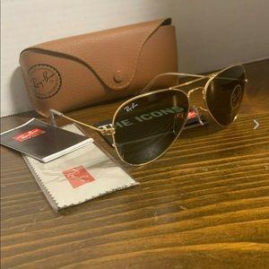 Ray-Ban Sunglasses RB 3025 55mm W3234 Green Lens